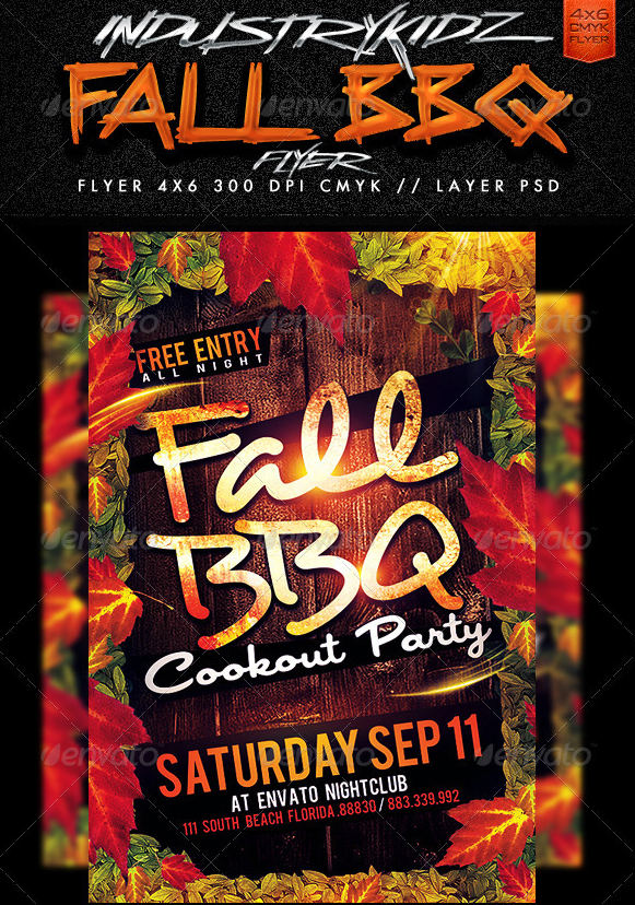 20 Free Barbeque Flyer Templates - Demplates
