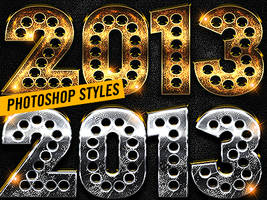 New Year Photoshop Styles