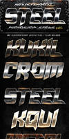Metal Steel Photoshop Layers Styles V6