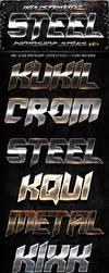 Metal Steel Photoshop Layers Styles V6 by Industrykidz