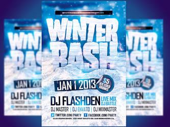Winter Bash PSD Flyer template by Industrykidz