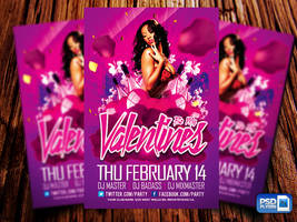 Valentines Day Party Flyer by Industrykidz