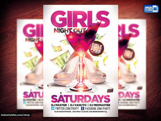 Girls Night Out Flyer PSD by Industrykidz