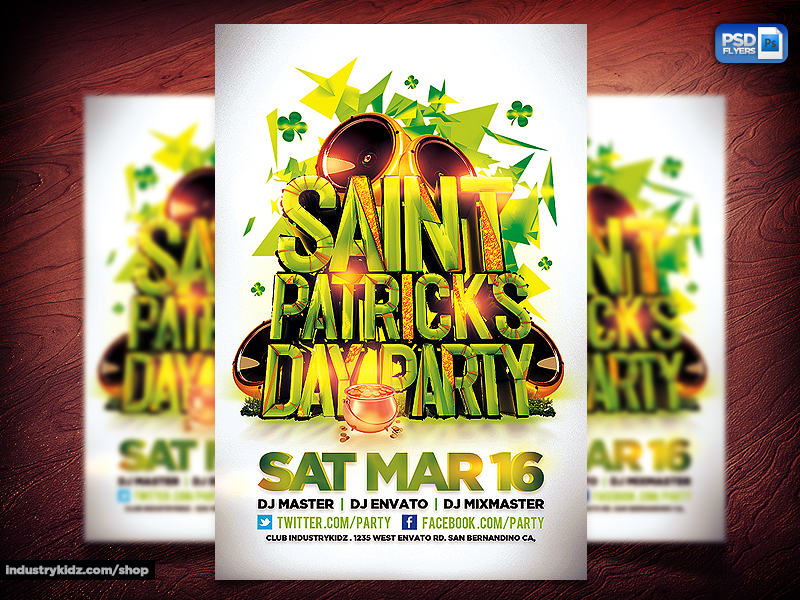 St. Patricks Day PSD Template by INDUSTRYKIDZ
