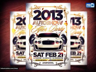 Auto show Flyer by Industrykidz