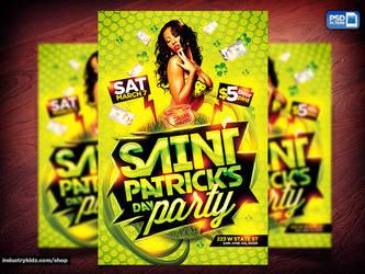 St Patricks Flyer Template by Industrykidz