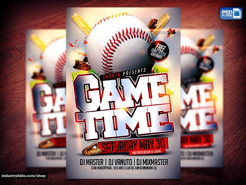 baseball psd flyer template by industrykidz on deviantart