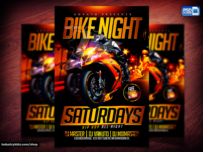 motorcycle event flyer by industrykidz