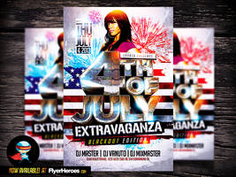 4th of July Flyer PSD Template by Industrykidz