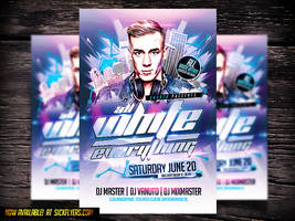 Electro White Party PSD flyer by Industrykidz