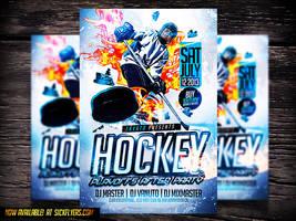 Hockey PSD Flyer Template by Industrykidz