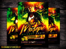 Mixtape Release Party PSD Flyer V2 by Industrykidz