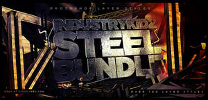 Metal Steel Photoshop Layer Styles Bundle by Industrykidz
