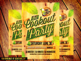 Cookout Party Flyer Template by Industrykidz