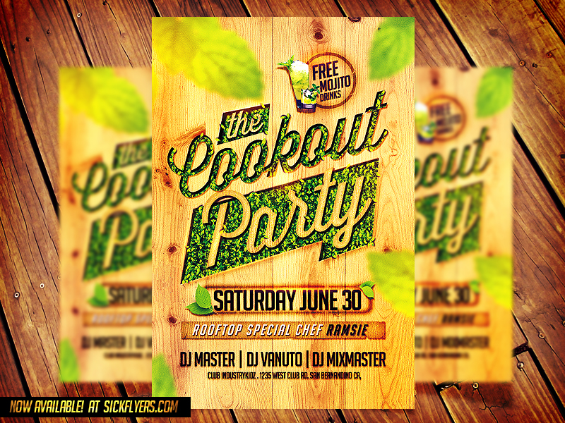 cookout party flyer template by industrykidz cookout party flyer h1rGezPB