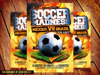 Soccer Flyer Template PSD by Industrykidz