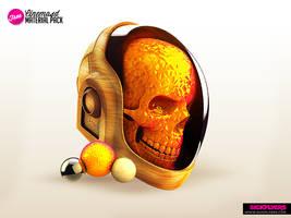 Daft Punk Skull Free material pack by Industrykidz
