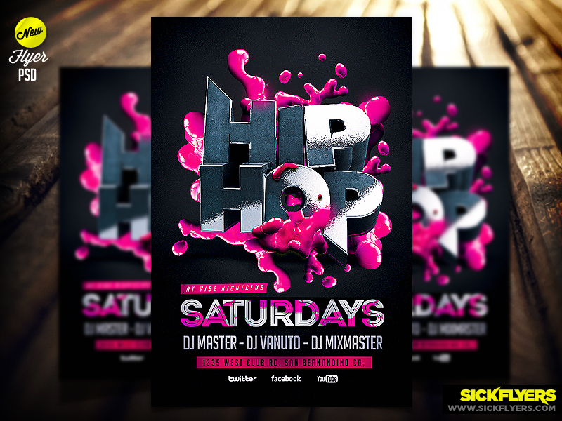 Hip Hop Flyer Template Psd By Industrykidz On Deviantart