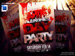 Anti Valentines Day Flyer Template PSD