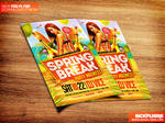 Spring Break Flyer Template PSD