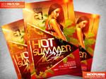 Hot Summer Nights Flyer Template PSD
