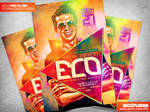 Electro Fantasy Flyer Template PSD
