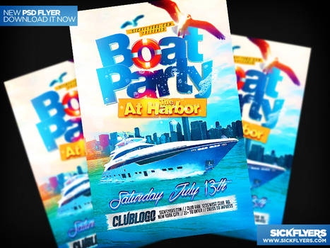 Boat Party Flyer Template PSD