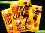 Soccer World Cup Flyer Template PSD