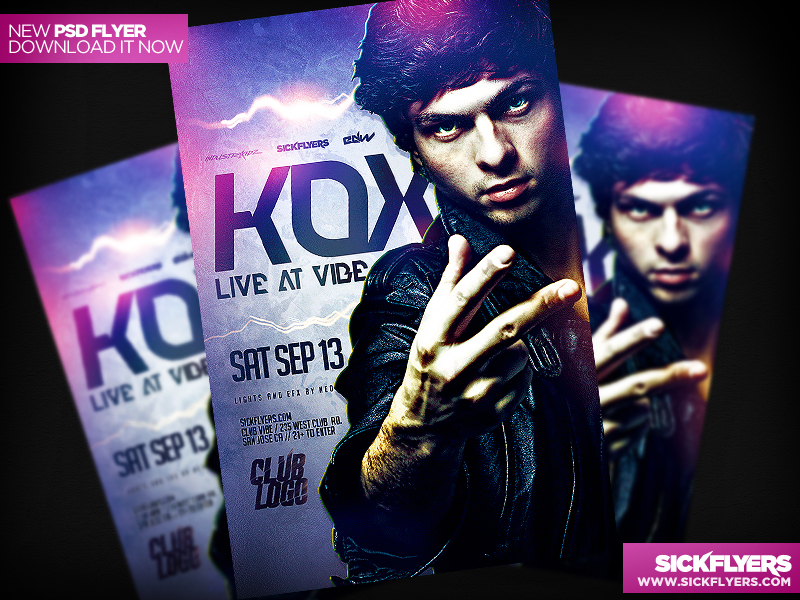 Electro DJ Flyer Template PSD by Industrykidz