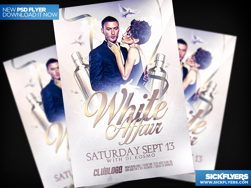 All White Party Flyer Template Psd By Industrykidz On Deviantart