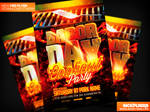 Labor Day Cookout Flyer Template PSD
