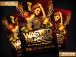 Wasted Thursdays Flyer Template PSD