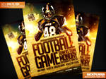 Football Game Flyer Template PSD