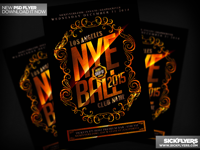New Years Flyer PSD by Industrykidz