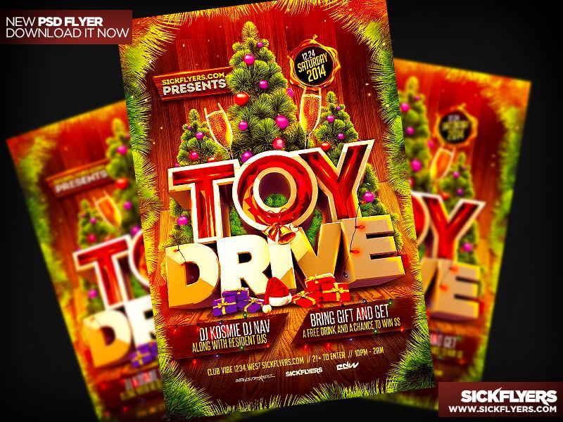 Toy Drive Flyer PSD V2 by Industrykidz