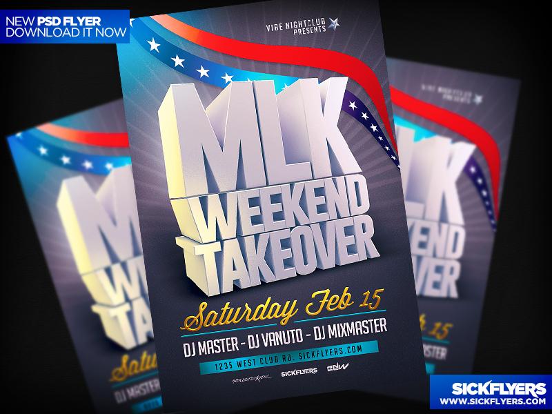 MLK Weekend Flyer Template V2 by Industrykidz