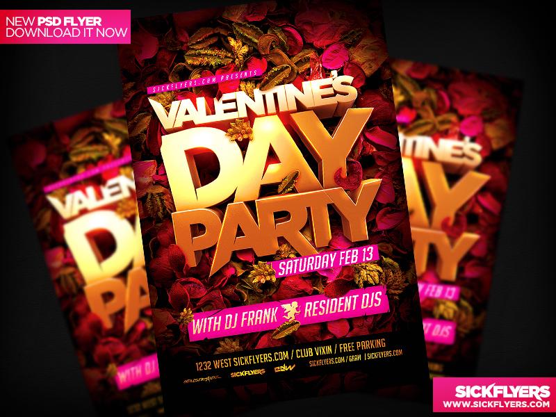 Valentines Day Party Flyer by Industrykidz