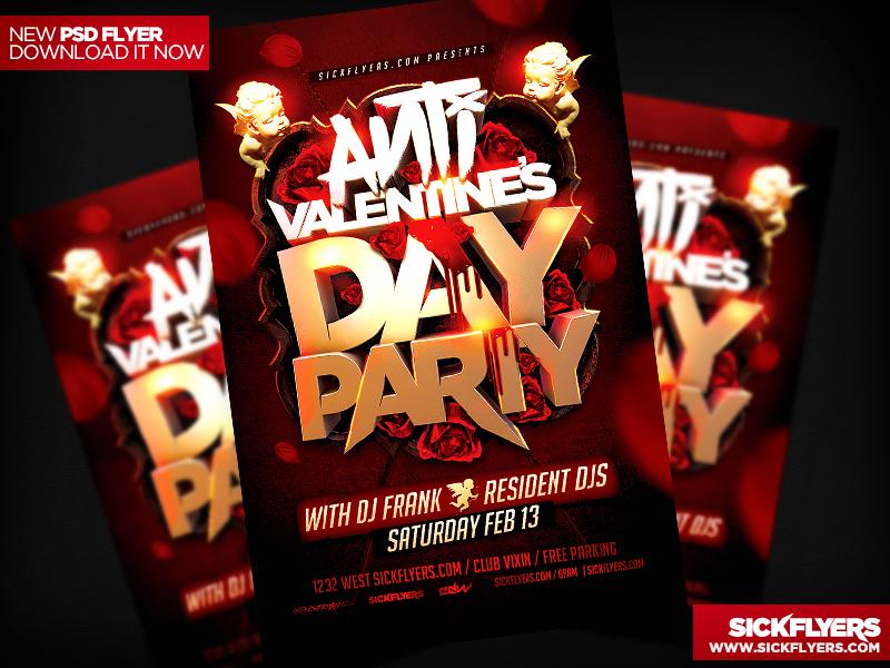 Anti Valentines Day Flyer by Industrykidz