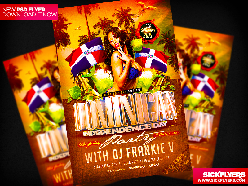 Dominican Independence Day Flyer by Industrykidz