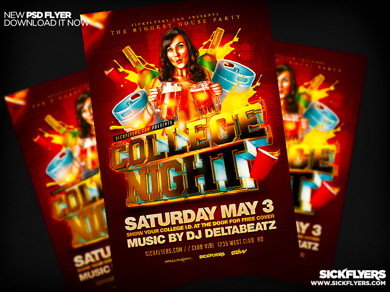 college night flyer psd by industrykidz on deviantart