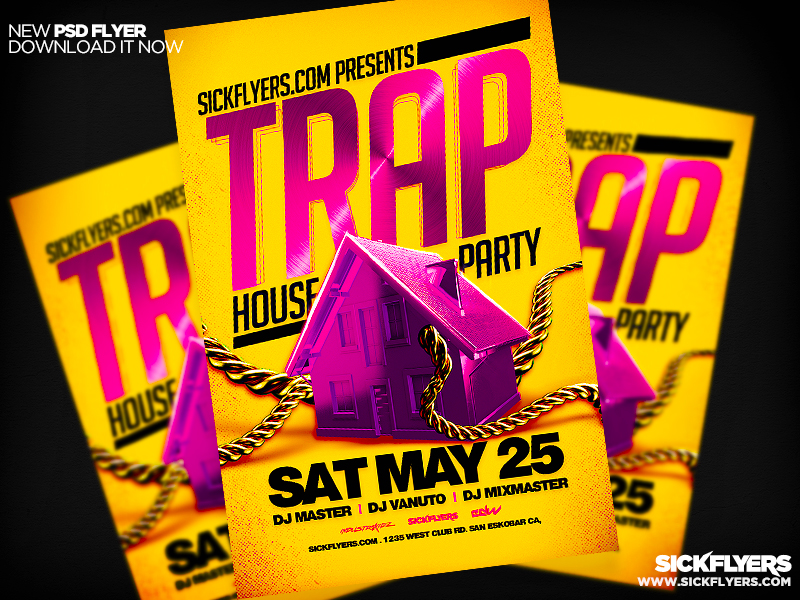 Trap House Party Flyer Psd By Industrykidz On Deviantart