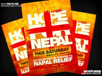 Nepal Earthquake Relief  Flyer by Industrykidz