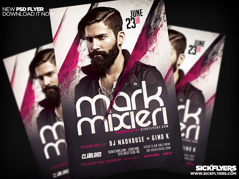 DJ Flyer Template PSD PRO SERIES V4 by Industrykidz