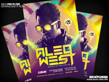 EDM DJ Flyer PSD