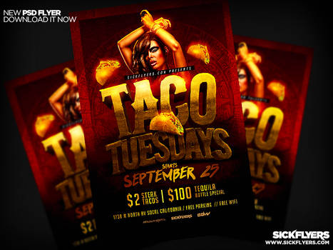 Taco Tueday Flyer PSD