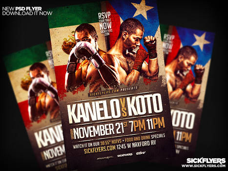 Canelo Vs Cotto Flyer PSD