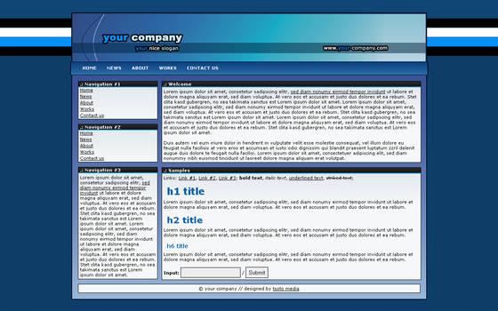 Simple Blue Business Template