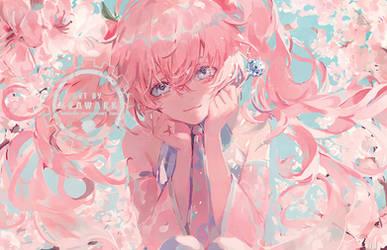 Sakura Miku by Krawark