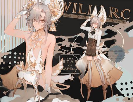White Valentines Day Willarc: Star of Capella[open