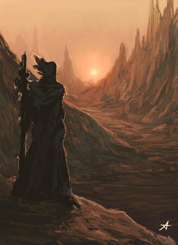The Pilgrim by Aerenwyn